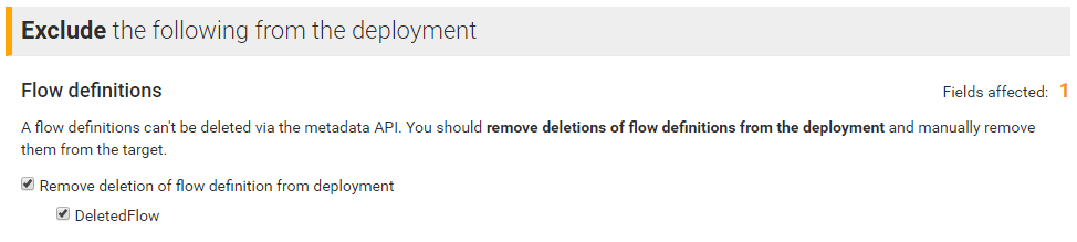 Detecting a deleted flow definition