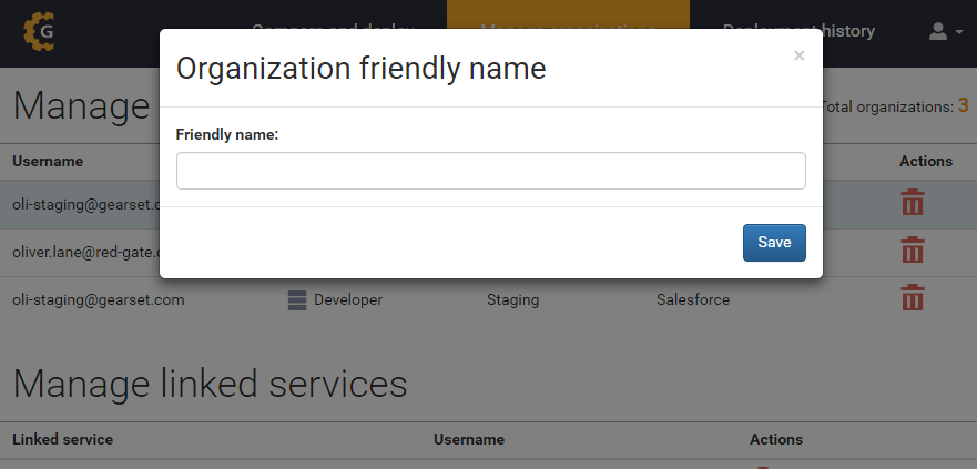 Add friendly name dialog