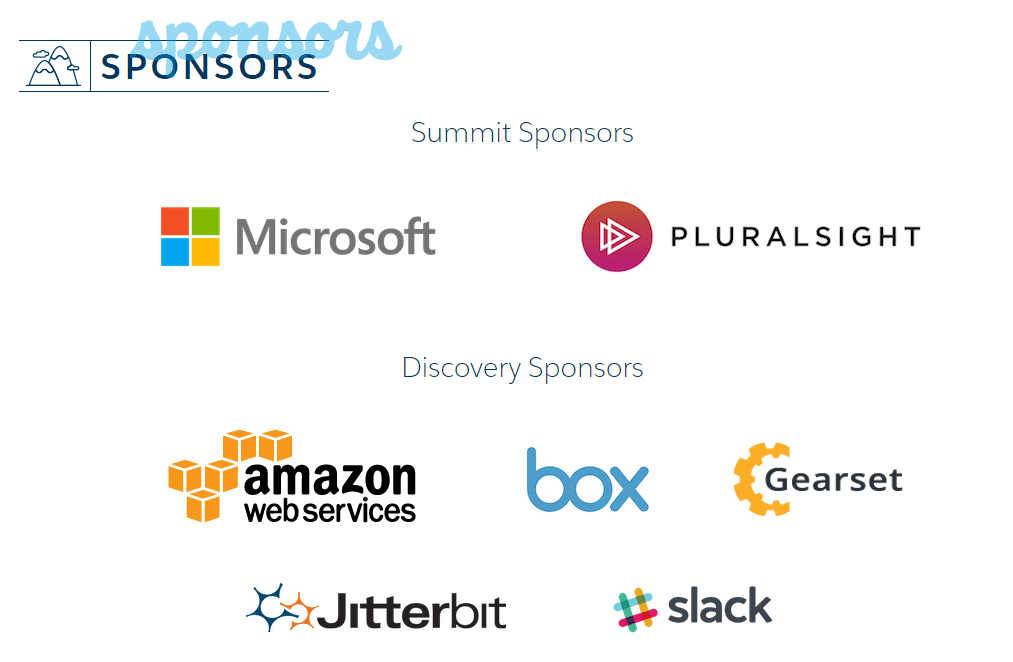 Gearset and the other TrailheaDX sponsors